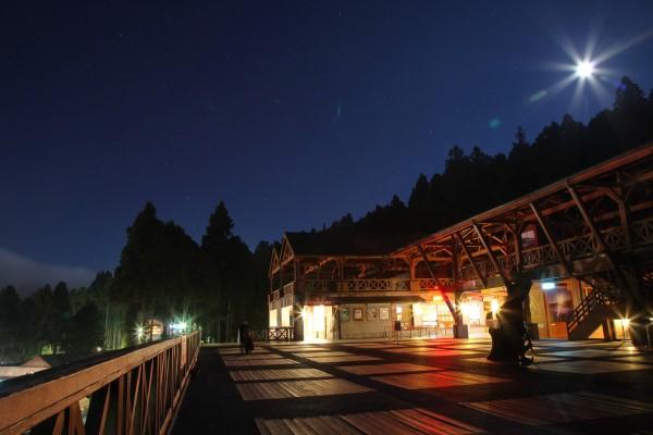 阿里山火車站夜景